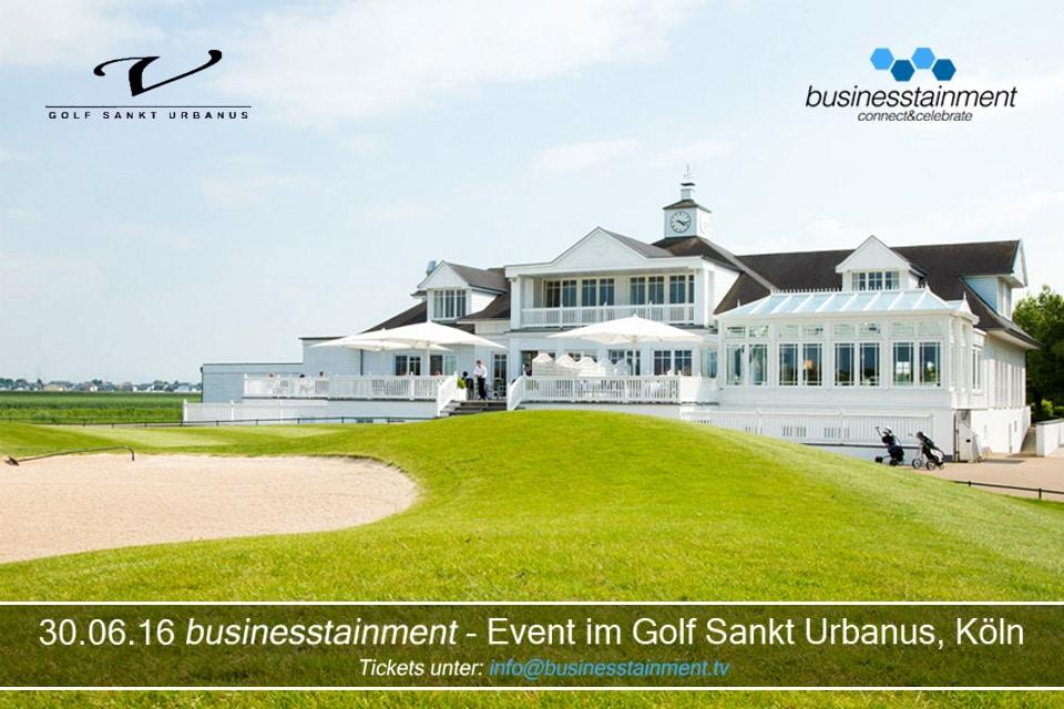 businesstainment – Event in der Golfanlage Sankt Urbanus am 30.06.16