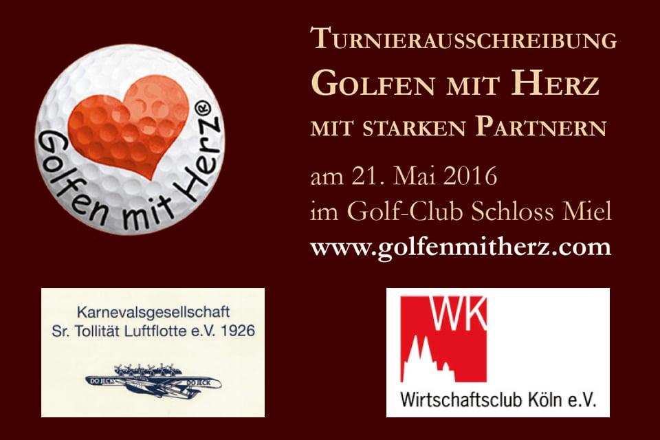Golfen mit Herz Event – Köln im GC Schloss Miel am 21.05.2016