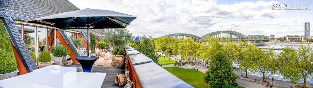 Aussichtspunkt Rheinloft Cologne die fünf Sterne Location in Köln.