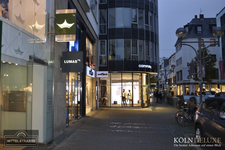 Luxus-Shopping mit Charme auf der Mittelstrasse in Köln