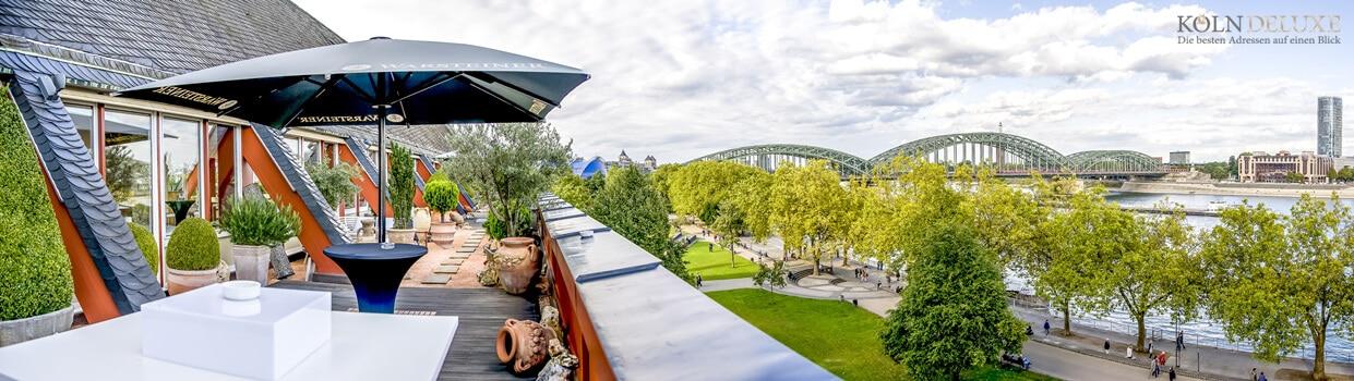 Rheinloft Cologne, die fünf Sterne Location und Ihr Ausblick.