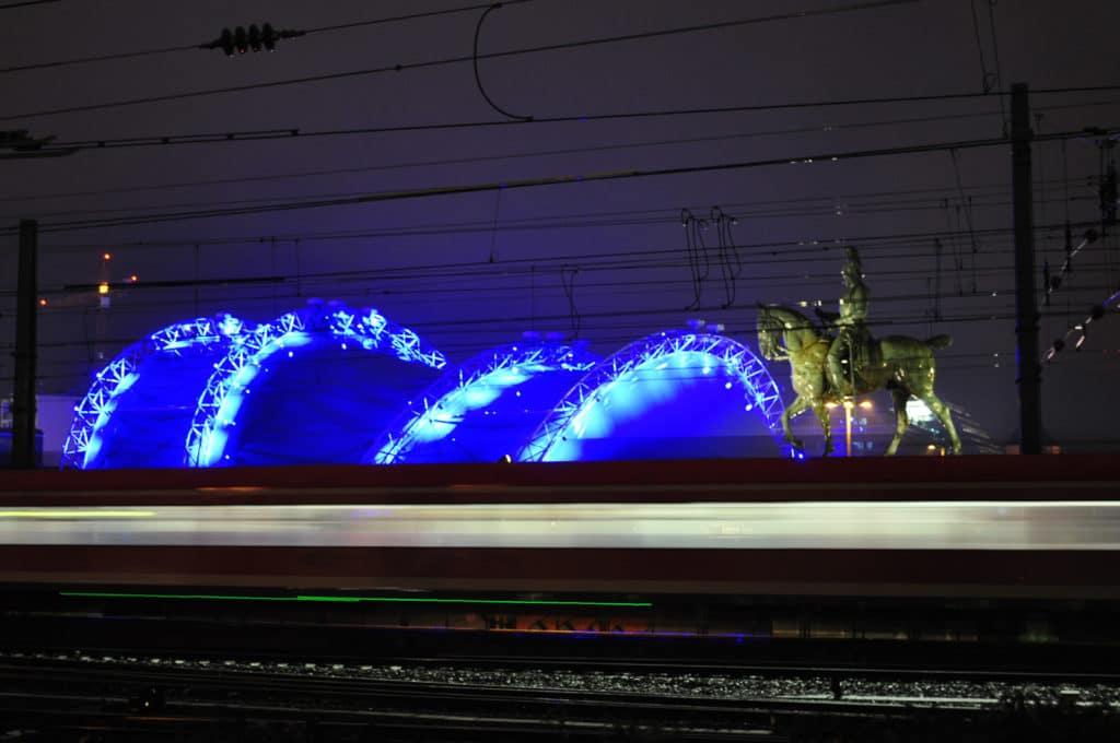 Hohenzollernbrücke Reiter