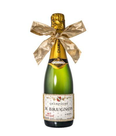 Champagner mit weissem Strass und Schleife