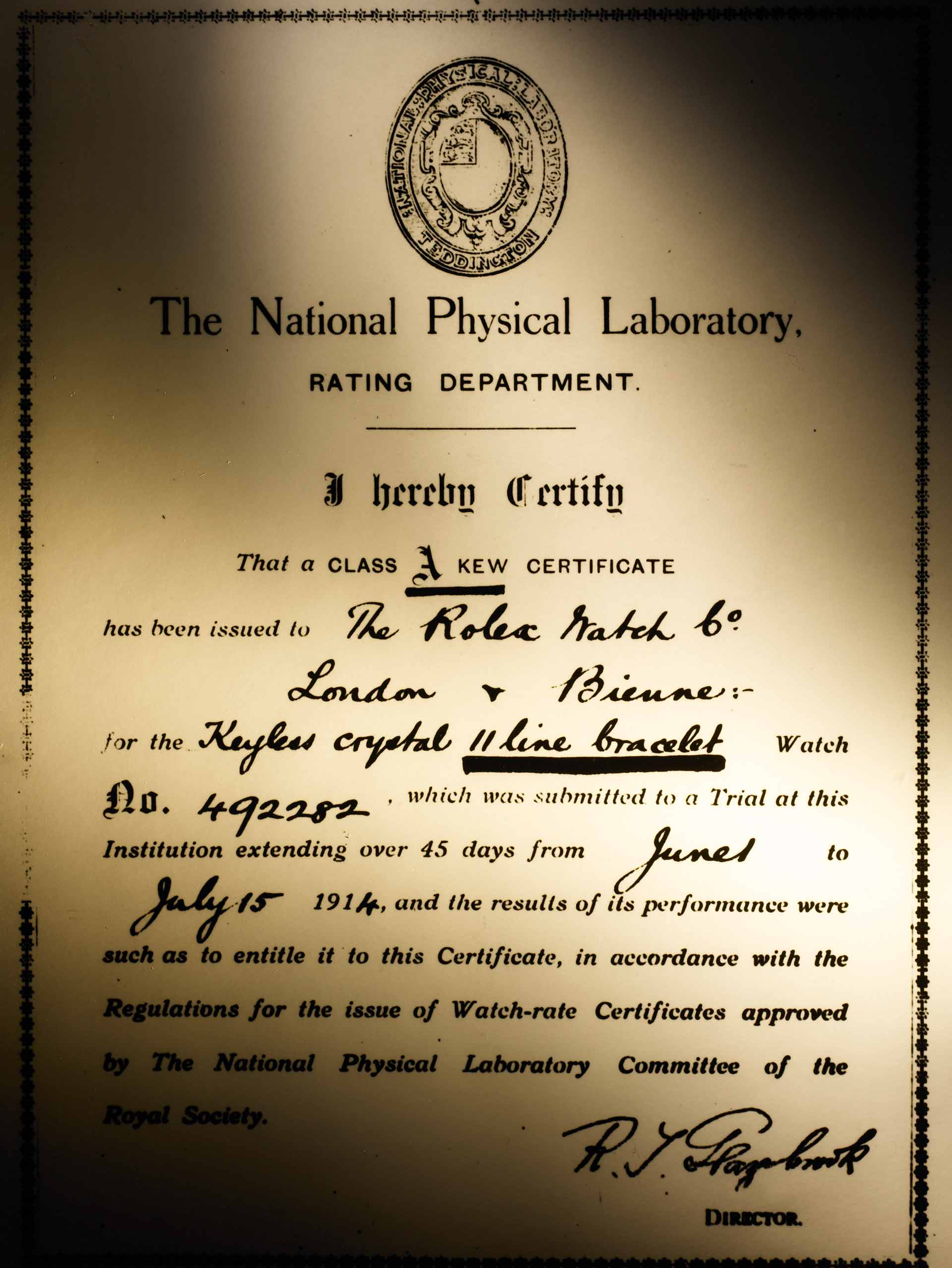 First_class_A_precision_certificate_1914