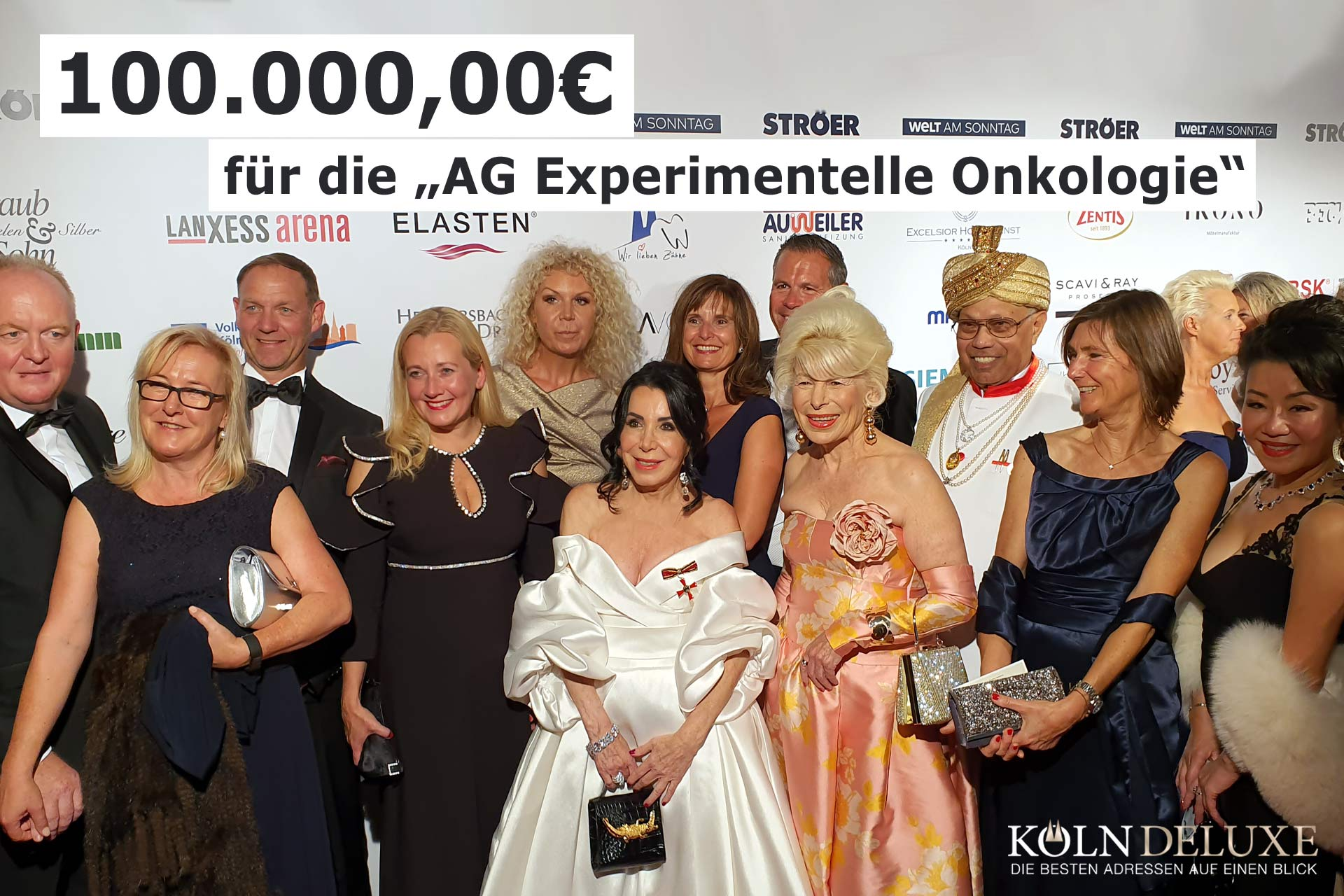 """31. KölnBall spendet 100.000 Euro für die """"AG Experimentelle Onkologie"""""""