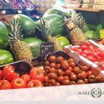 Frisches Gemüse und Obst bei Mare Atlantico
