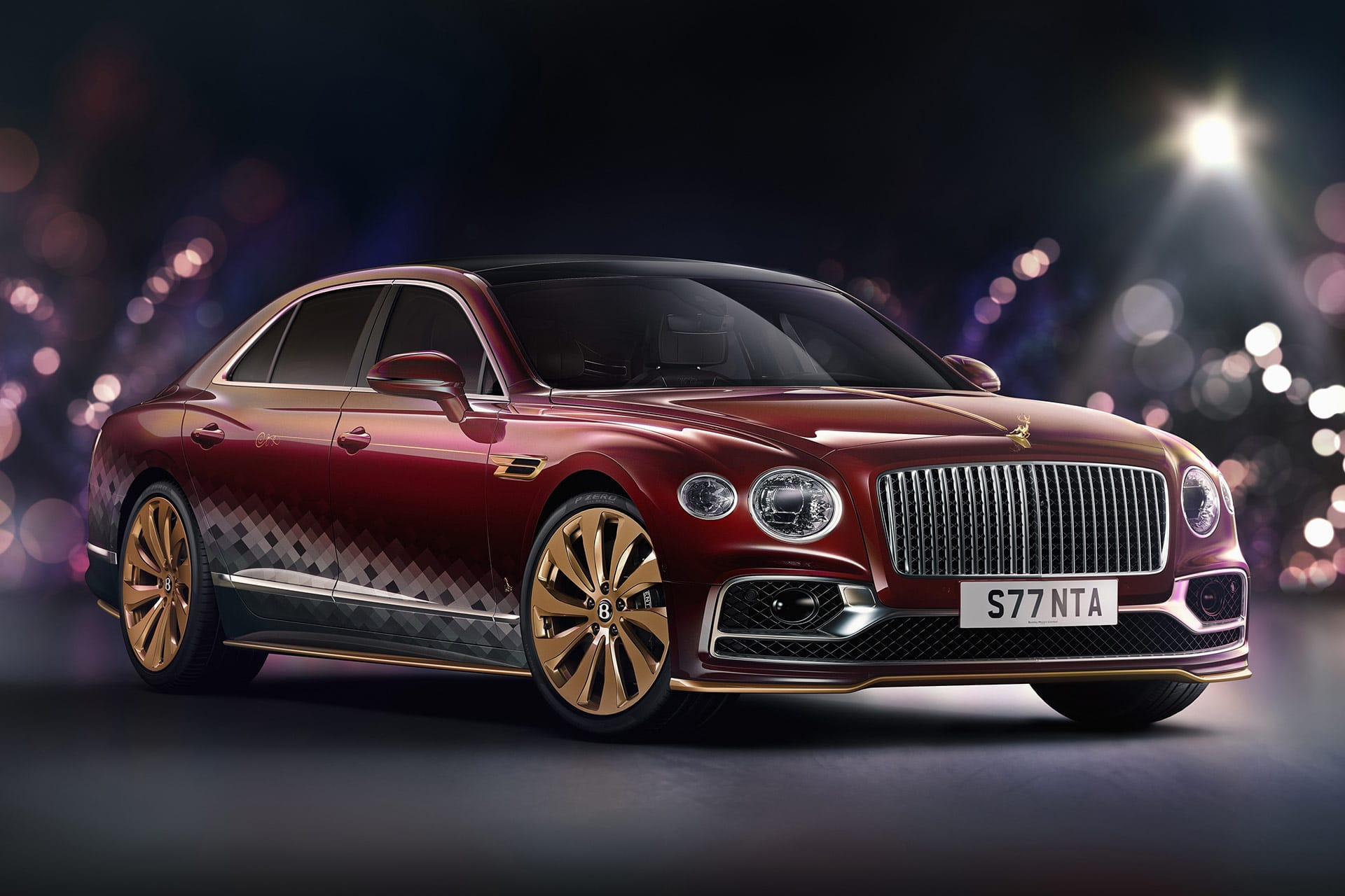 """The Reindeer Eight"": V8 statt Rentiere im Bentley Flying Spur"