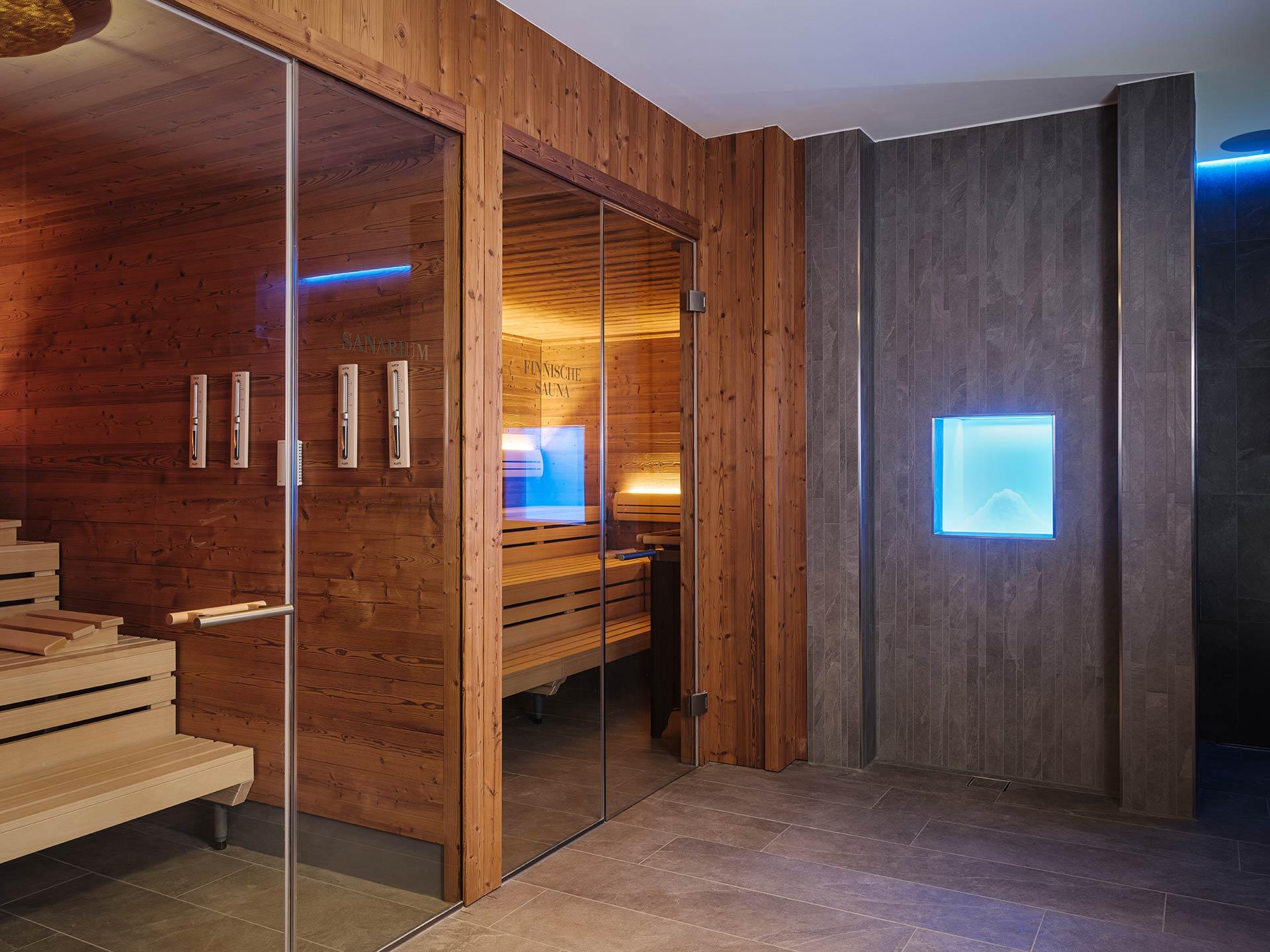 Finnische Sauna in der Spa des Althoff Collection Grandhotel Schloss Bensberg