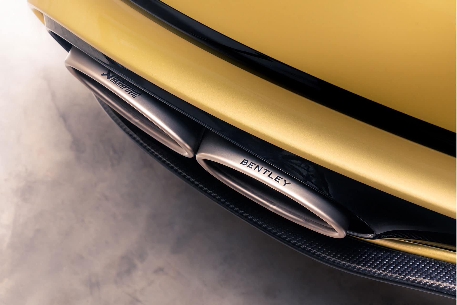 Neuer Bentley Continental GT mit Akrapovič Sportauspuffanlage aus Titan